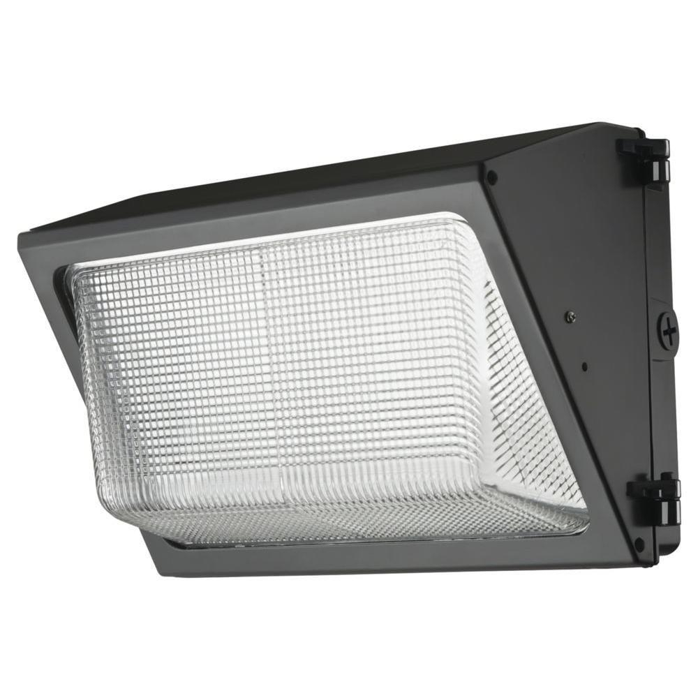 Commercial Outdoor Wall Lighting Fixtures With Recent Lithonia Lighting Bronze Outdoor Integrated Led 5000k Wall Pack (View 15 of 20)
