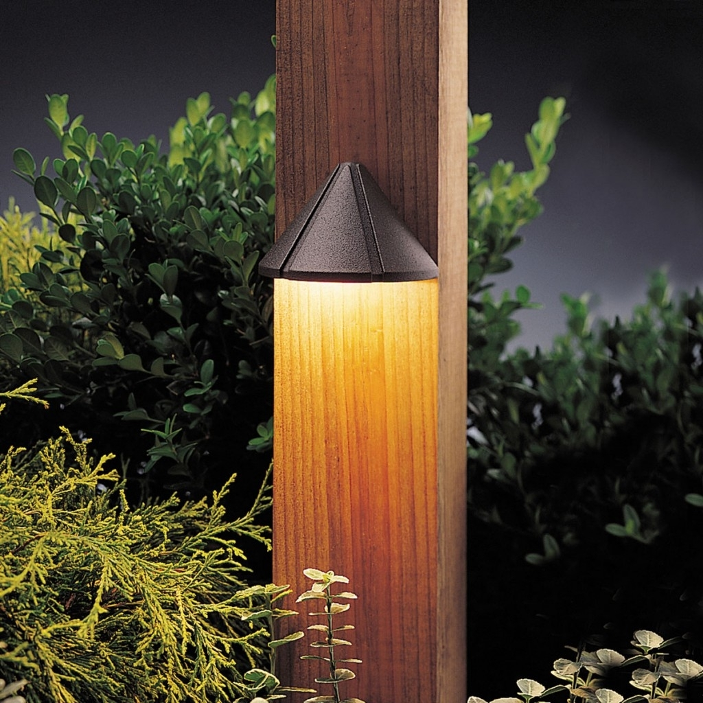 Contemporary Hampton Bay Outdoor Lighting Intended For Fashionable Lighting: Green Garden Decoration With Wooden Pillar Mounted Wall (View 7 of 20)