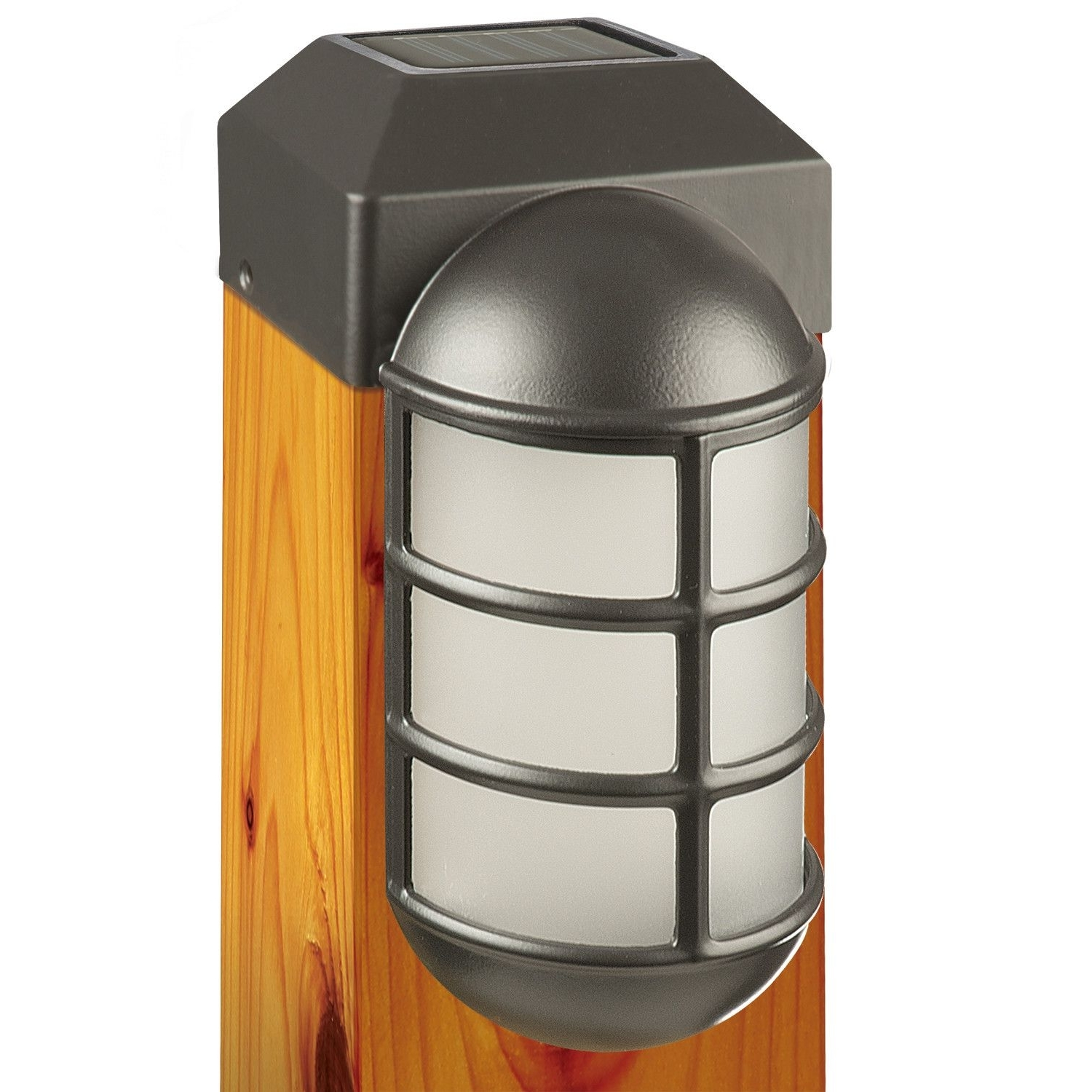 Contemporary Outdoor Solar Lights At Wayfair Regarding Latest 1 Light Fence Post Cap (View 13 of 20)