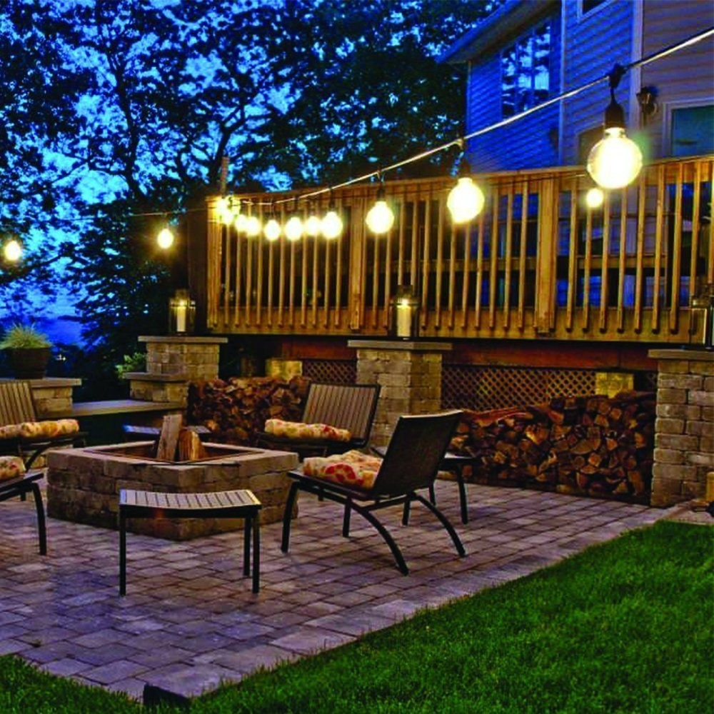Contemporary Outdoor String Lights At Target Pertaining To Well Known Backyard String Lights Magnificent Outdoor Target Led Battery Lowes (View 4 of 20)