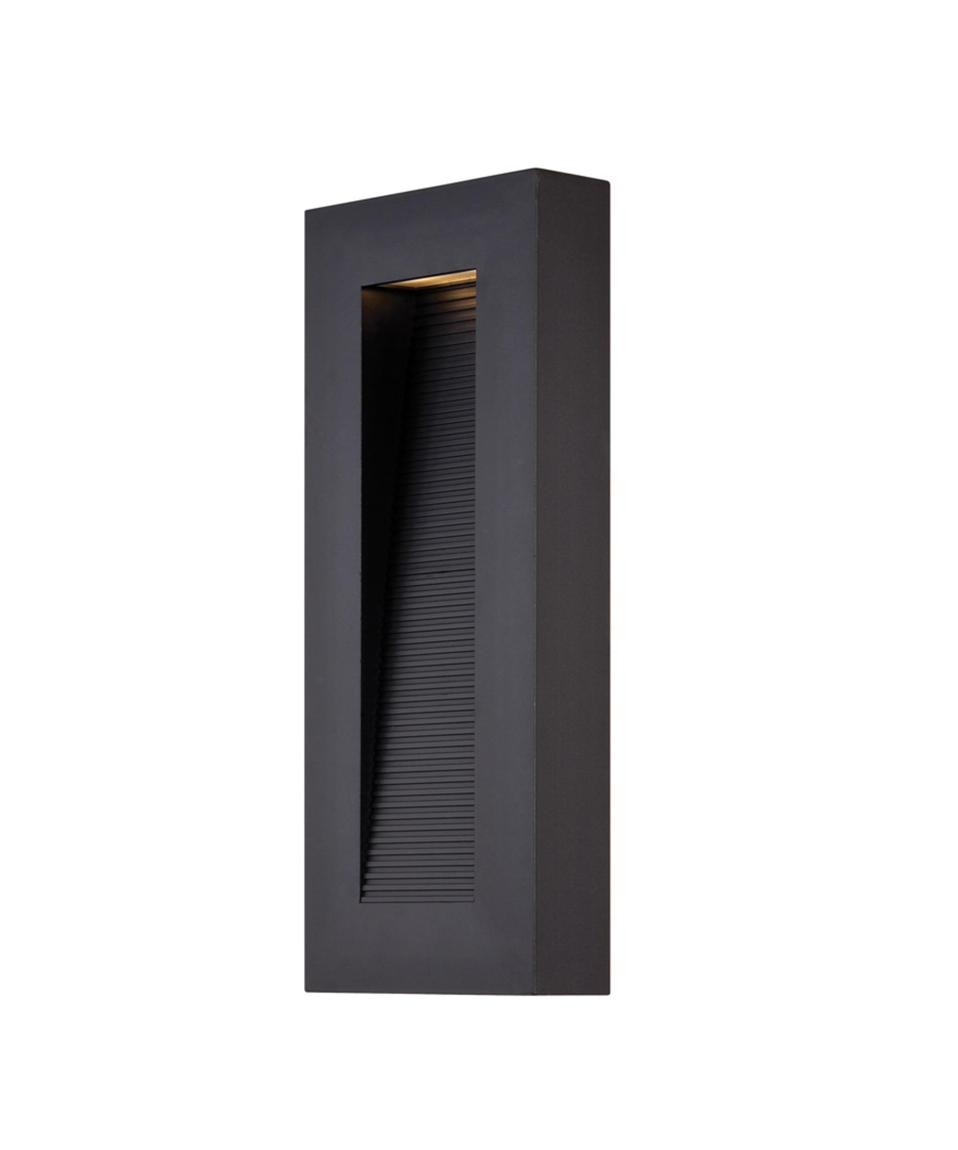 Contemporary Outdoor Wall Lighting Sconces Inside Current Modern Forms Ws W1116 Urban 7 Inch Wide 4 Light Outdoor Wall Light (View 3 of 20)