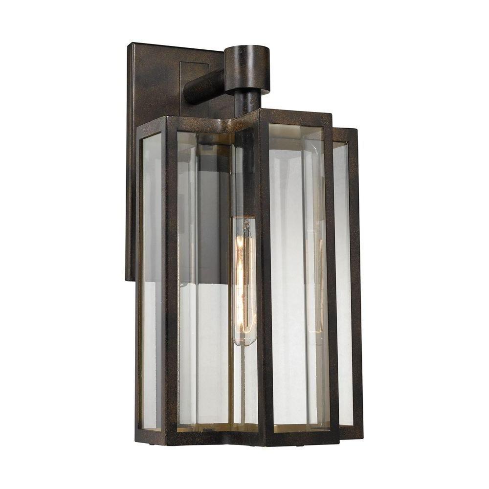 Contemporary Outdoor Wall Lights Regarding Newest Titan Lighting Bianca 1 Light Hazelnut Bronze Outdoor Sconce Tn (View 7 of 20)
