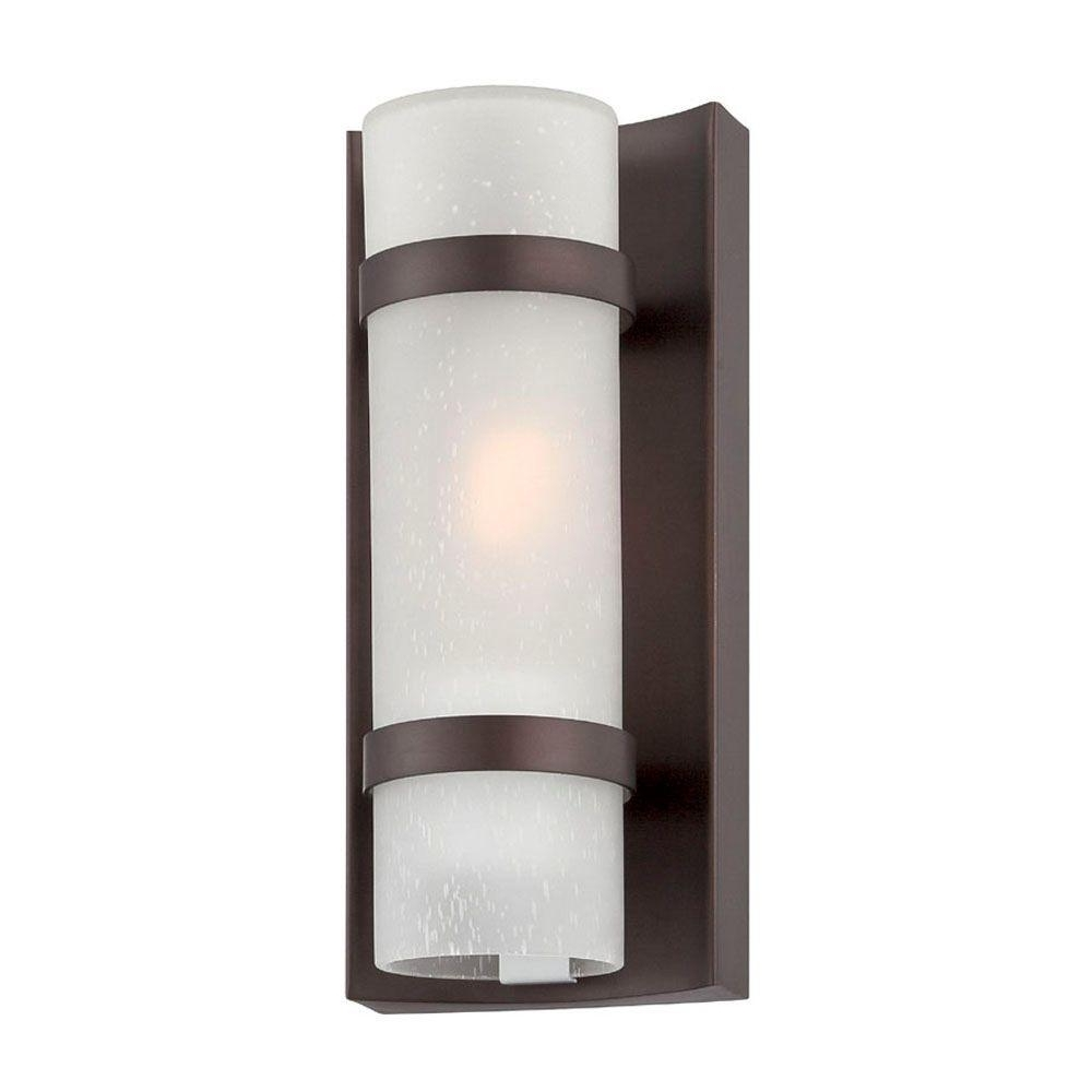 Contemporary Outdoor Wall Mount Lighting Throughout 2018 Acclaim Lighting Apollo Collection 1 Light Architectural Bronze (View 5 of 20)