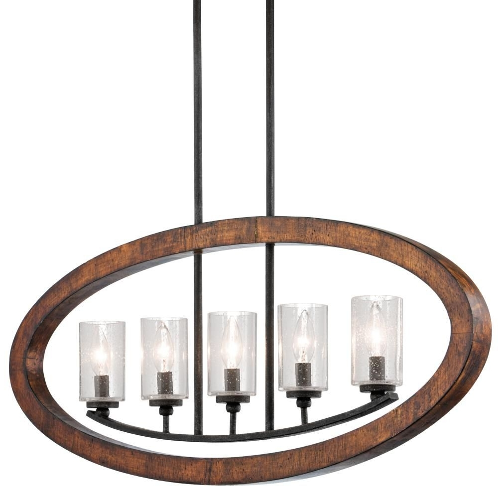 Contemporary Rustic Outdoor Lighting At Wayfair Intended For Well Known This Vertical Chandelier From Kichler Is Warm And Rusticwith A (View 10 of 20)