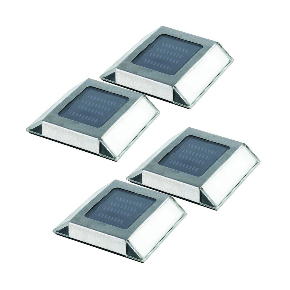 Contemporary Solar Driveway Lights At Home Depot With Most Up To Date Nature Power Stainless Steel Outdoor Solar Outdoor Integrated Led (View 5 of 20)
