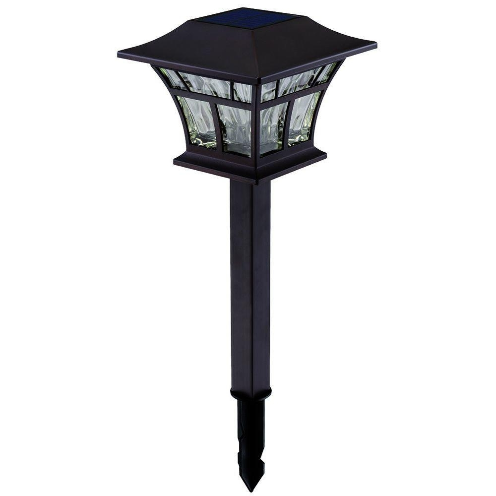 Contemporary Solar Driveway Lights At Home Depot With Well Known Solar Powered – Landscape Lighting – Outdoor Lighting – The Home Depot (View 6 of 20)