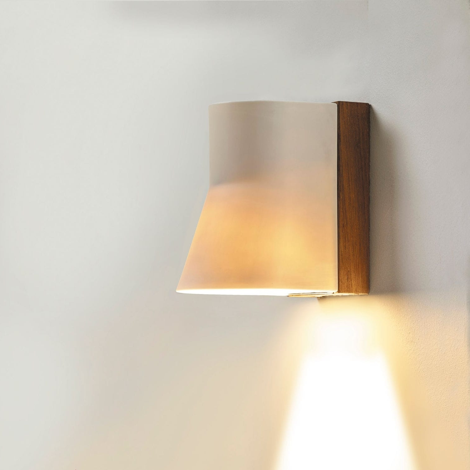 Contemporary Wall Light / Outdoor / Teak / Porcelain – Beacon Wall Inside Trendy Beacon Outdoor Wall Lighting (View 18 of 20)