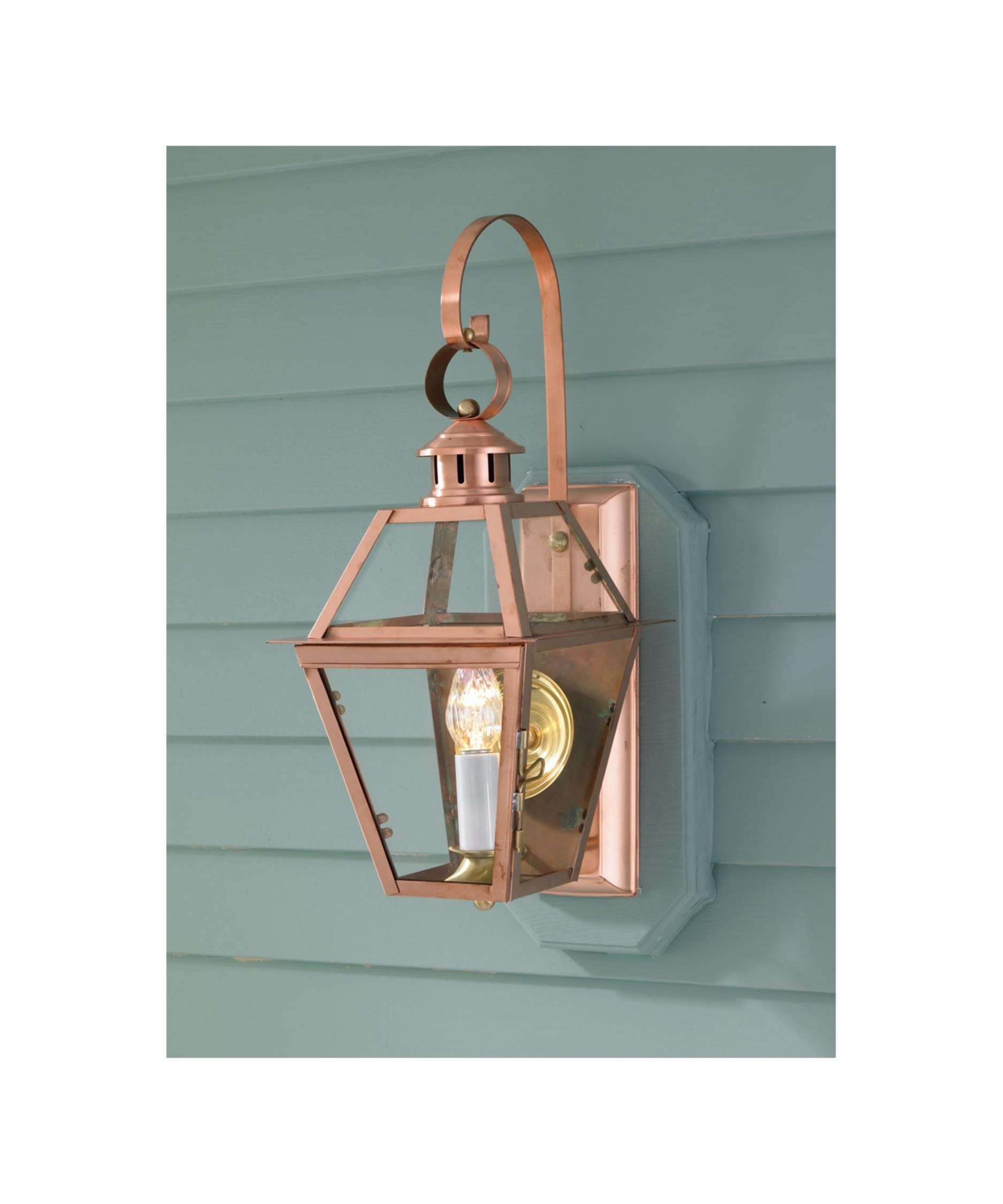 Copper Outdoor Ceiling Lights Within Newest Norwell 2253 Old Colony Copper 10 Inch Wide 1 Light Outdoor Wall (Gallery 10 of 20)
