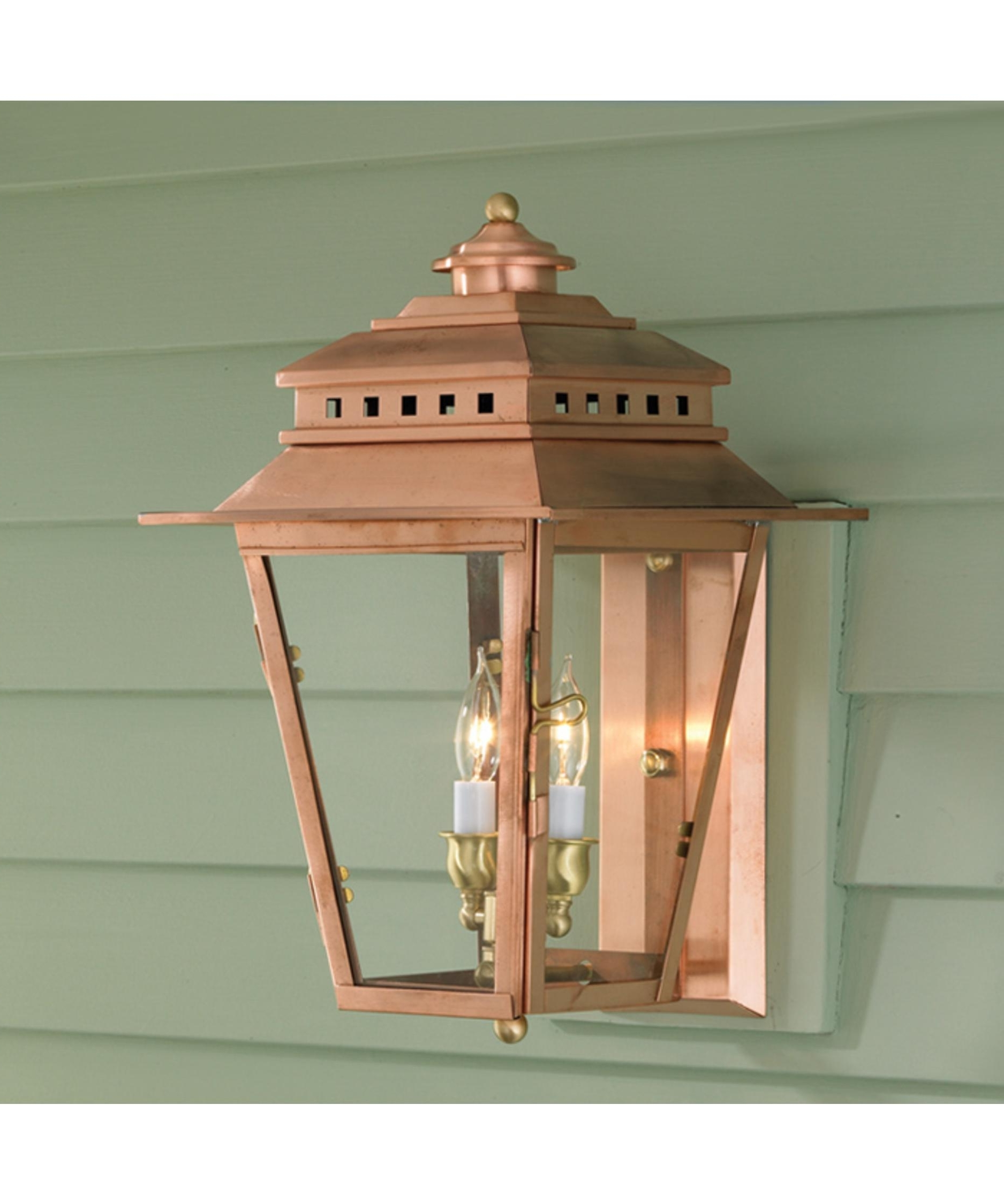 Copper Outdoor Wall Lighting In Well Known Norwell 2255 New Orleans 11 Inch Wide 2 Light Outdoor Wall Light (View 7 of 20)