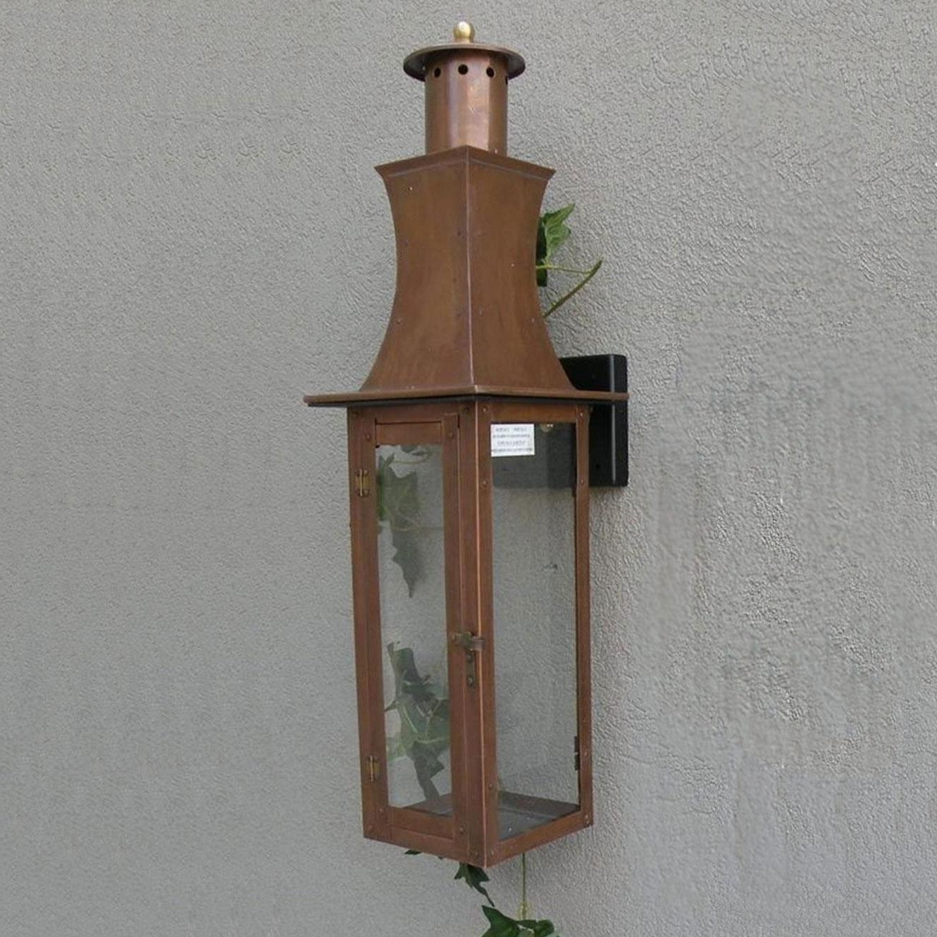 Copper Outdoor Wall Lighting With Most Popular Interesting Ancient Outdoor Mount On The Wall Lighting Fixtures (View 6 of 20)