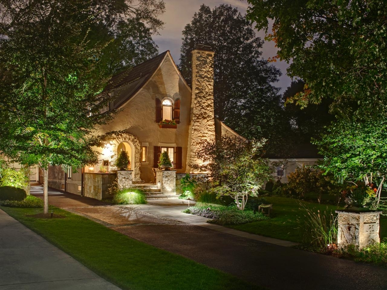 Cottage Outdoor Lighting In Most Up To Date Beautiful Outdoor Lighting Fixtures At A Stone House – Artenzo (View 3 of 20)