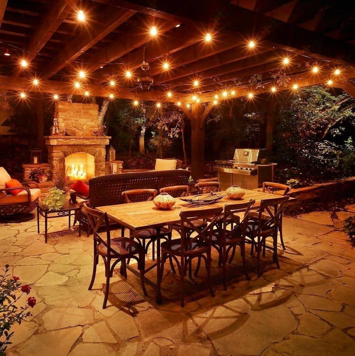 Current Amazon : Festive Patio Lights Outdoor Hanging String Lighting For Hanging Outdoor Cafe Lights (Gallery 7 of 20)