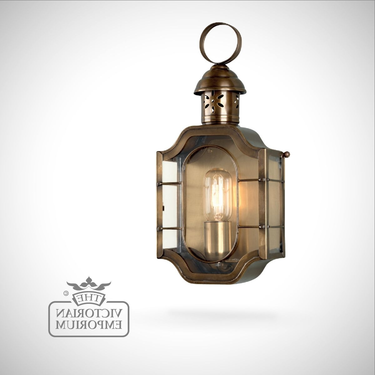 Current Antique Brass Outdoor Lighting Inside The Oval Brass Wall Lantern – Antique Brass (View 14 of 20)