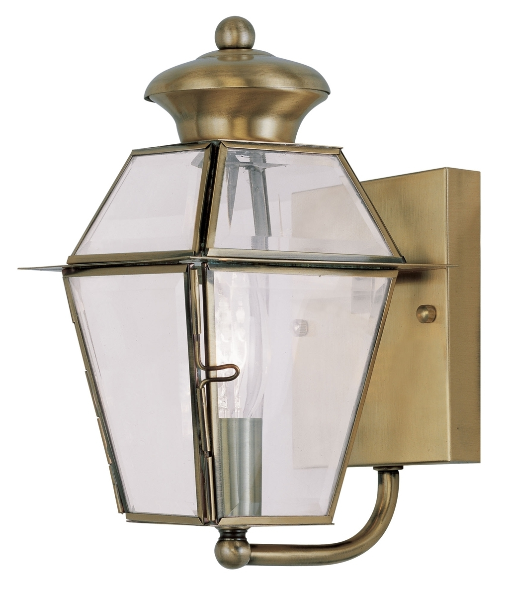 Current Antique Brass Outdoor Lighting With Antique Brass Porch Lights (View 11 of 20)