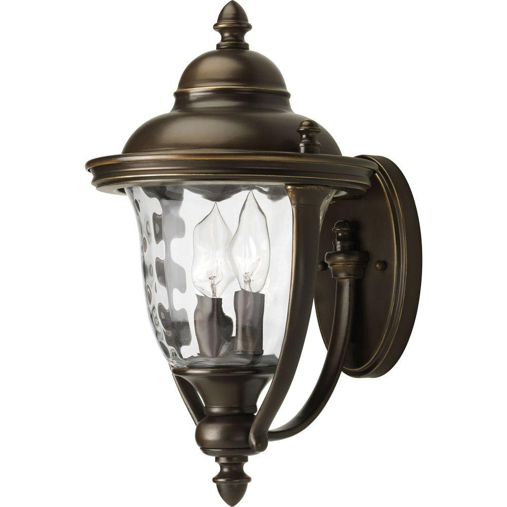 Current Bronze Outdoor Wall Lighting For Hampton Bay Prestwick Collection 2 Light Oil Rubbed Bronze Outdoor (View 12 of 20)