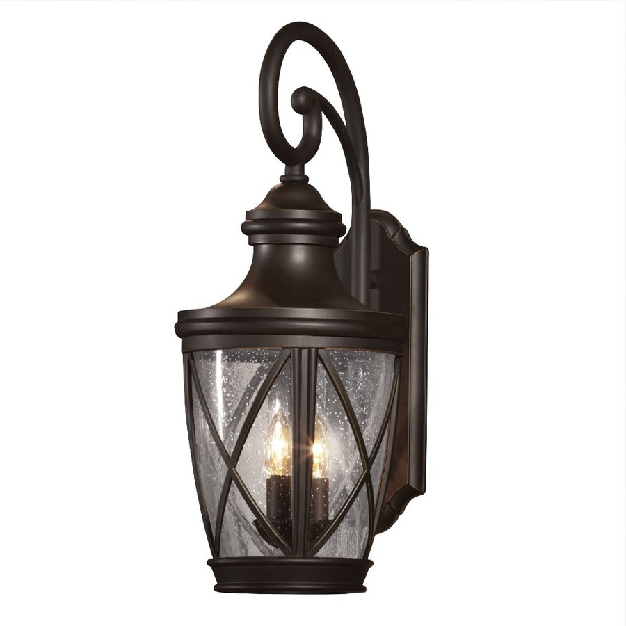 Current Bronze Outdoor Wall Lights Within Shop Outdoor Wall Lights At Lowes (View 13 of 20)