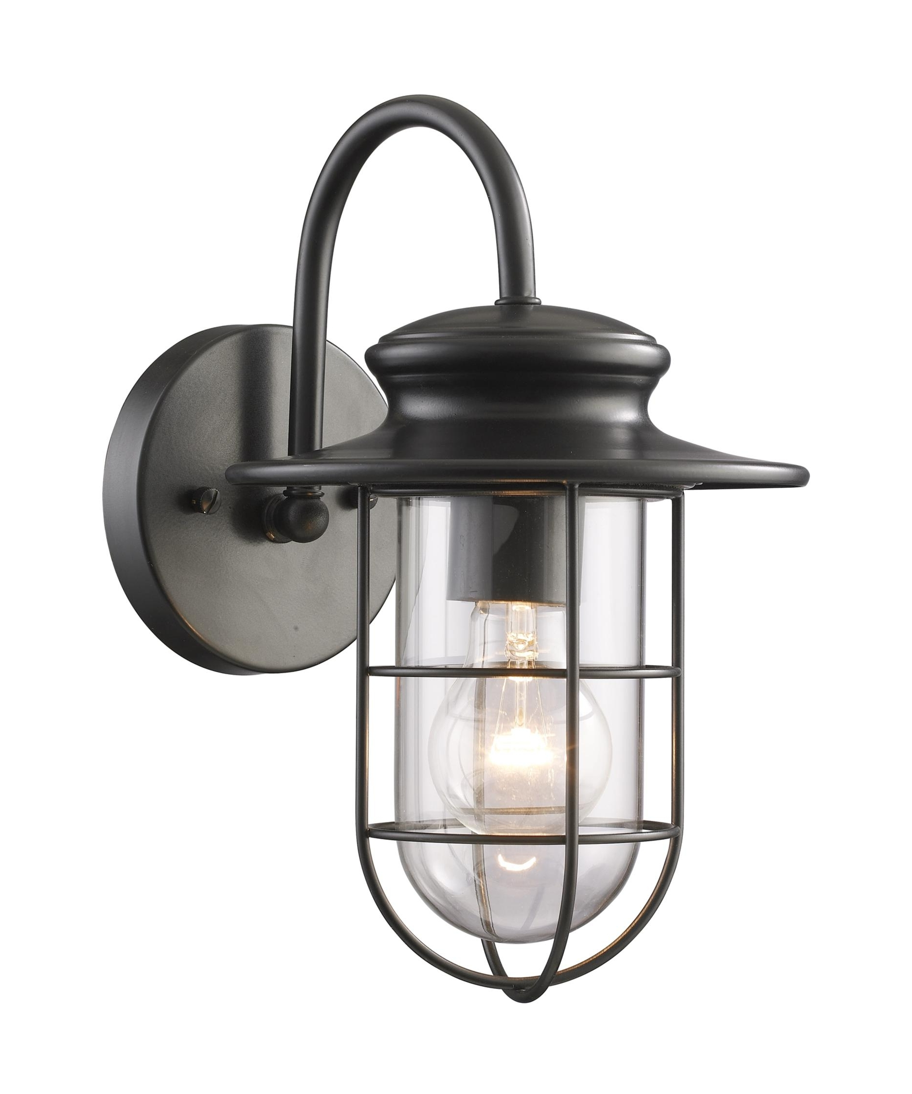 Current Elk Lighting 42284 1 Portside 7 Inch Wide 1 Light Outdoor Wall Light Inside Industrial Outdoor Wall Lighting (View 11 of 20)