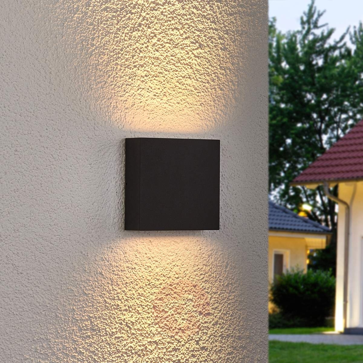 Current Grey Outdoor Wall Lights Inside Square Led Outdoor Wall Light Trixy, Graphite Grey (View 2 of 20)