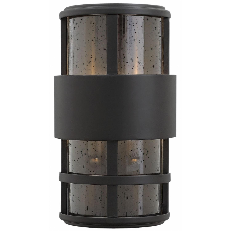 Current Hinkley 1908Sk Saturn 2 Light Outdoor Mini Wall Mount In Satin Black For Mini Wall Mount Hinkley Lighting (View 3 of 20)
