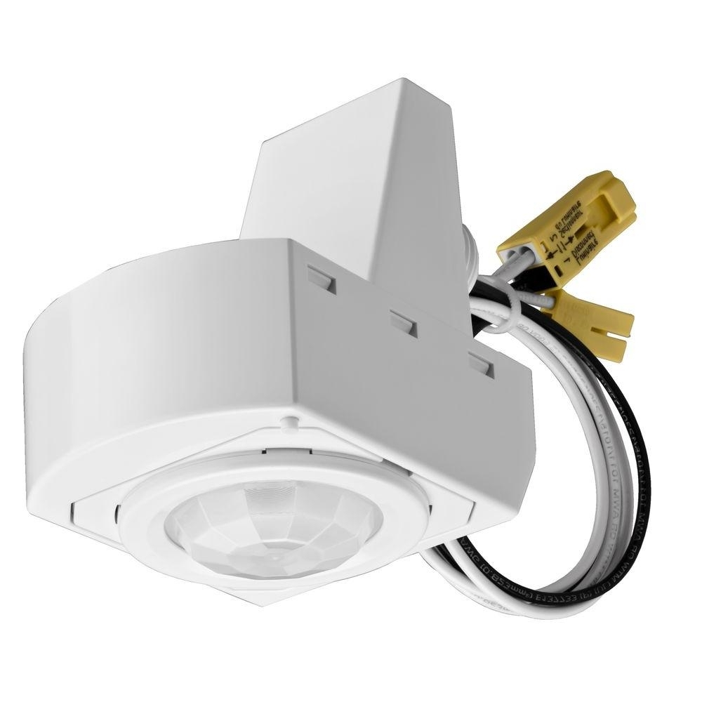 Current Lithonia Lighting Wall Mount Outdoor White Led Floodlight With Motion Sensor In Lithonia Lighting 360° Mounted White Motion Sensor Fixture Msx (View 2 of 20)