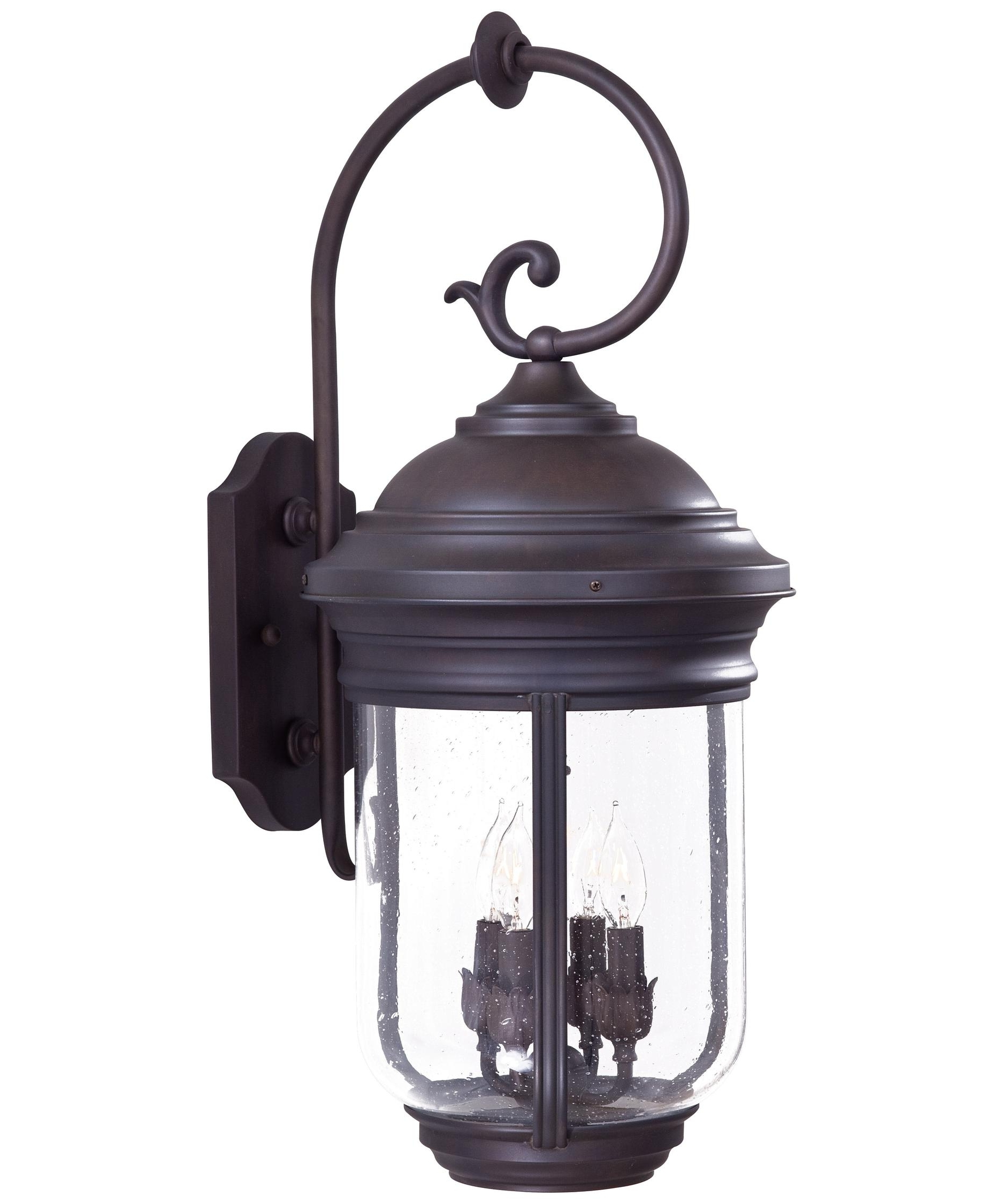 Current Minka Lavery 8812 Amherst 12 Inch Wide 4 Light Outdoor Wall Light Throughout Outdoor Wall Lighting With Seeded Glass (View 16 of 20)
