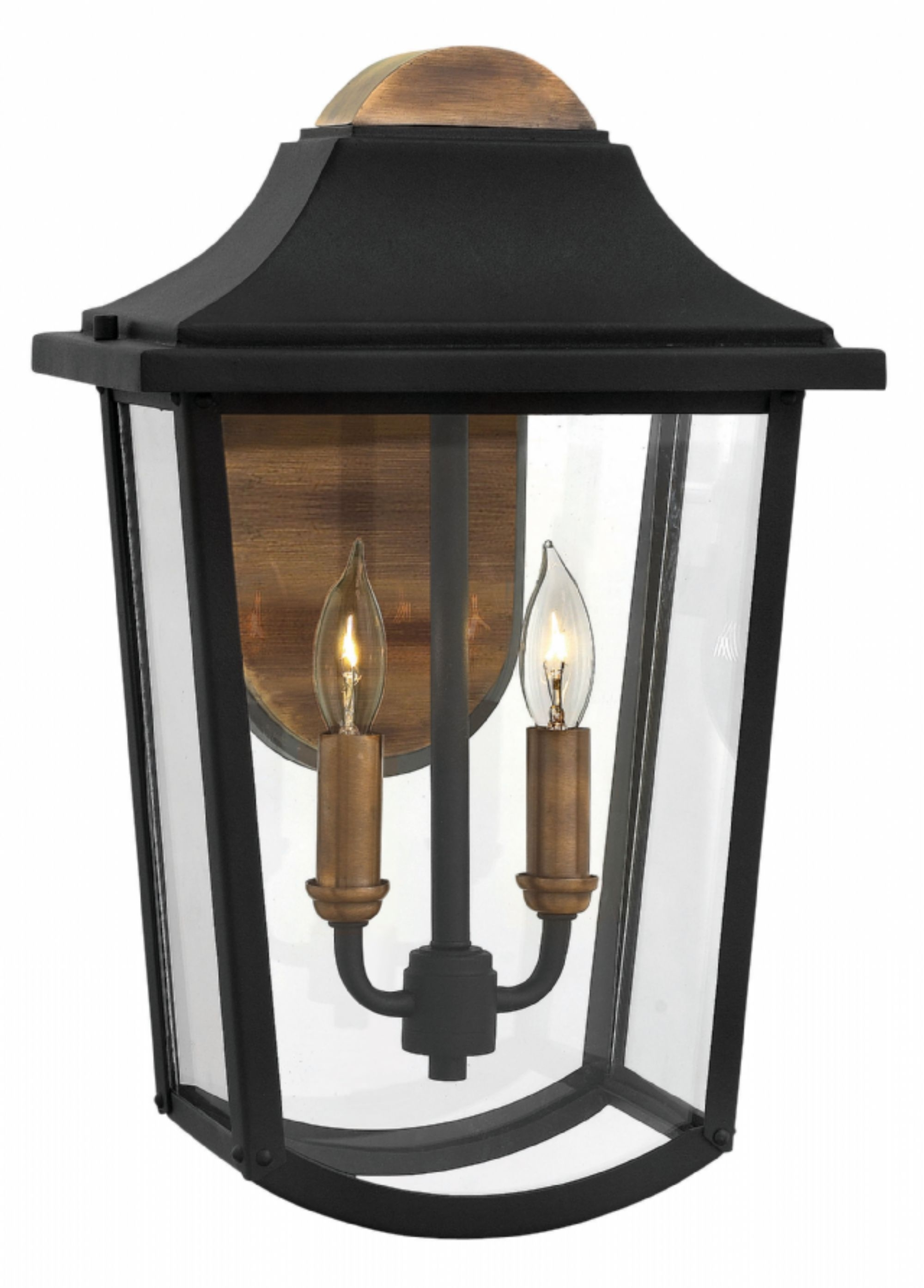 Current Modern Latern Hinkley Lighting Regarding Black Burton > Exterior Wall Mount (View 4 of 20)