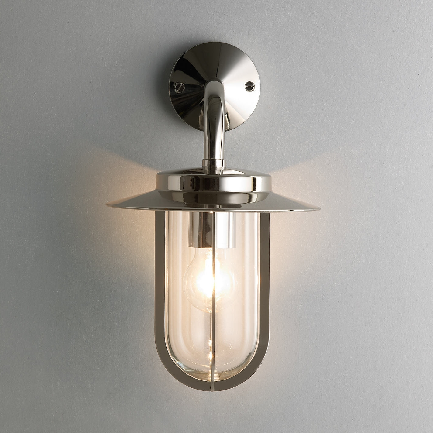Current Nickel Outdoor Wall Lighting Intended For Light : Outdoor Wall Mount Lighting Lights Design Mounted Polished (View 6 of 20)