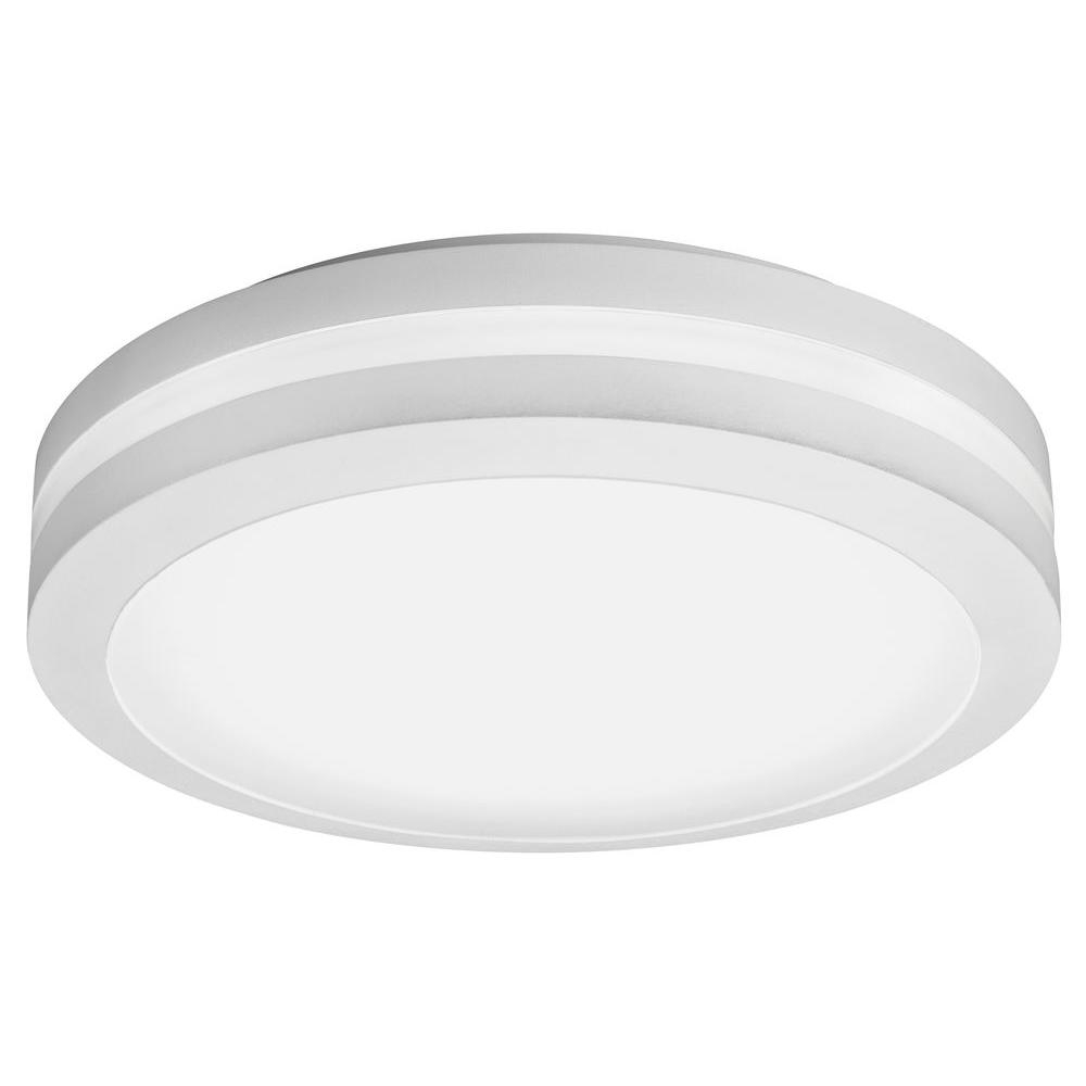 Current Outdoor Ceiling Led Lights Regarding Lithonia Lighting White Outdoor Integrated Led Decorative Flush (Gallery 3 of 20)