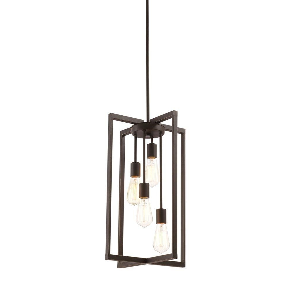 Current Outdoor Ceiling Lights At Rona Pertaining To Monteaux Lighting 4 Light Oil Rubbed Bronze Pendant 999 Dnp – The (View 9 of 20)