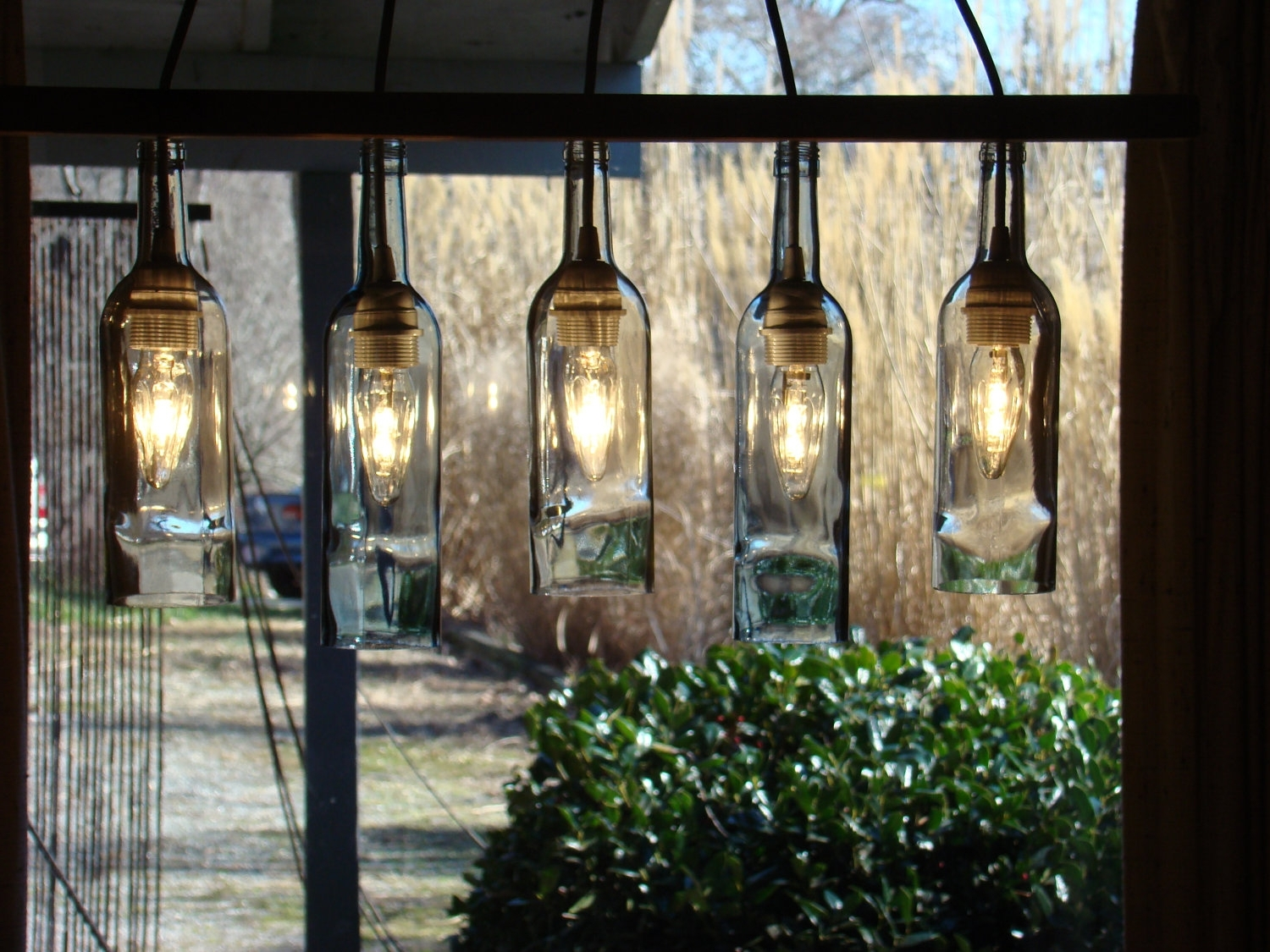 Current Outdoor Hanging Bottle Lights With Wine Bottle Outdoor Lamp – Outdoor Designs (Gallery 15 of 20)