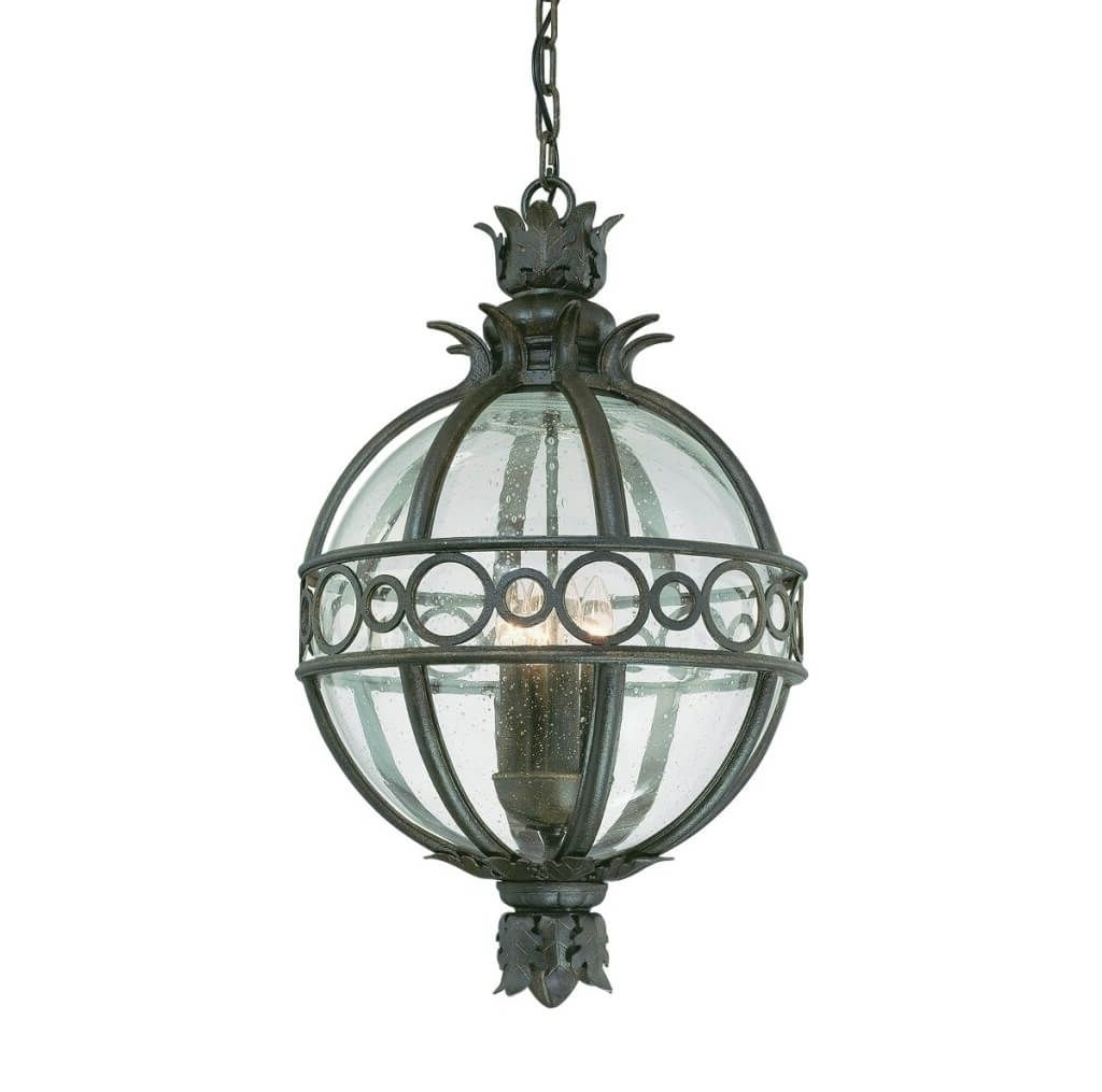 Current Outdoor Hanging Globe Lights With Regard To Lighting: Distinctive Globe Outdoor Pendant Light Design – The (View 2 of 20)
