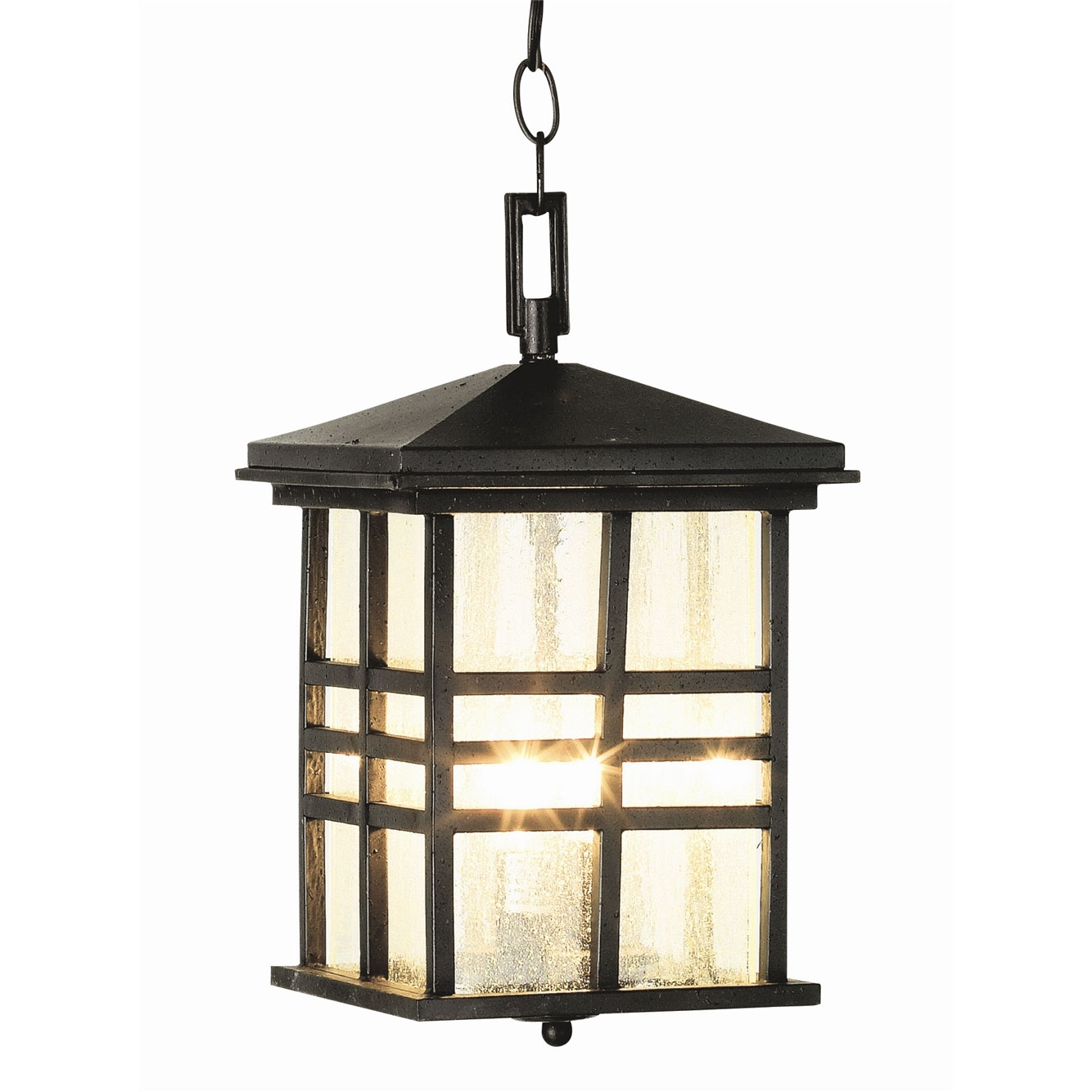 Current Outdoor Hanging Lanterns Pertaining To Craftsman Outdoor Hanging Lanterntrans Globe (View 18 of 20)
