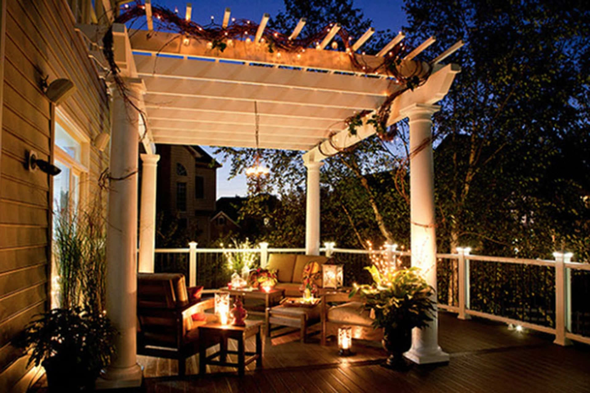 Current Outdoor Hanging Lights For Pergola With Diy : Outdoor Patio String Lights Globe Enjoy The Lanterns For (View 15 of 20)