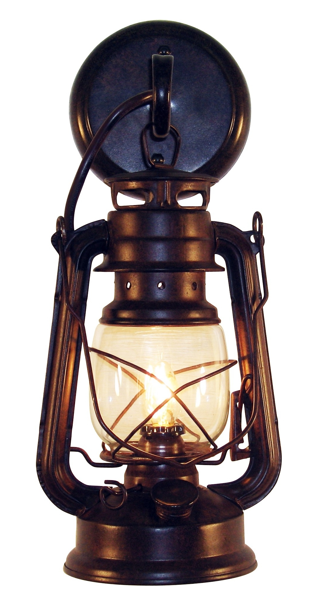 Current Outdoor Wall Lantern Lighting Throughout Rustic Lantern Wall Mounted Light – Small Rustic (View 16 of 20)