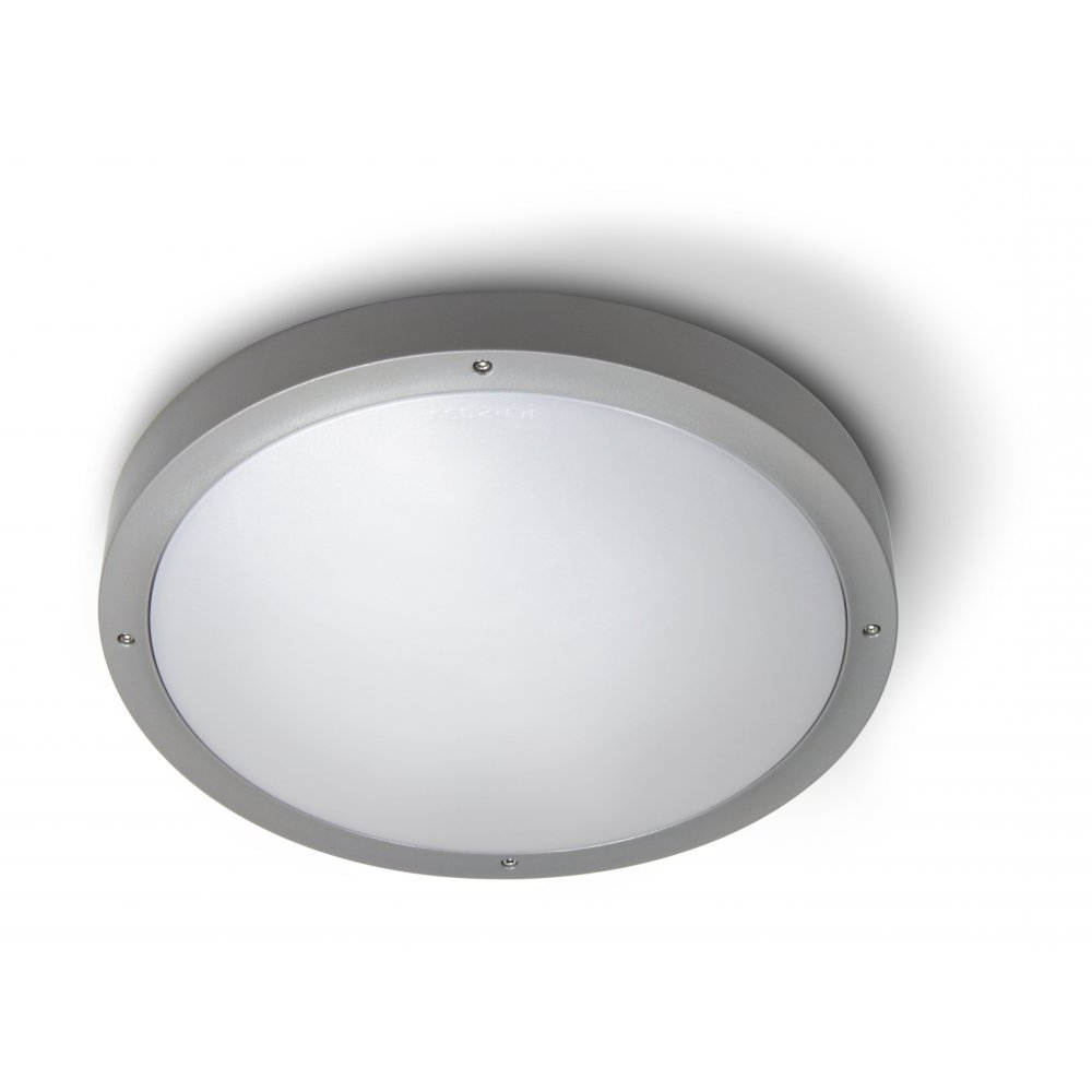 Current Plastic Outdoor Ceiling Lights: Deka Ingram Cm Silver Plastic Indoor With Plastic Outdoor Ceiling Lights (View 3 of 20)