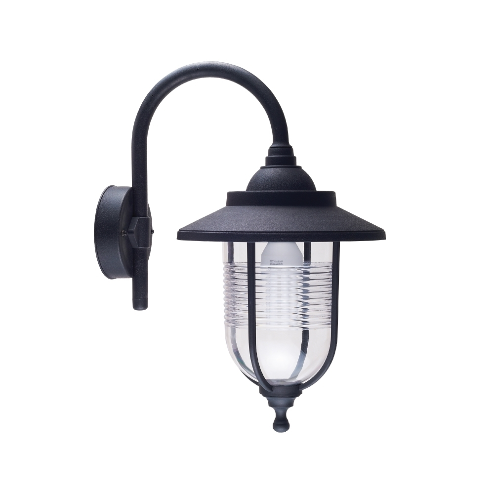 Current Plastic Outdoor Ceiling Lights Throughout Exterior Plastic Outdoor Living Area Wall Lantern E27 Ip54 (Gallery 10 of 20)