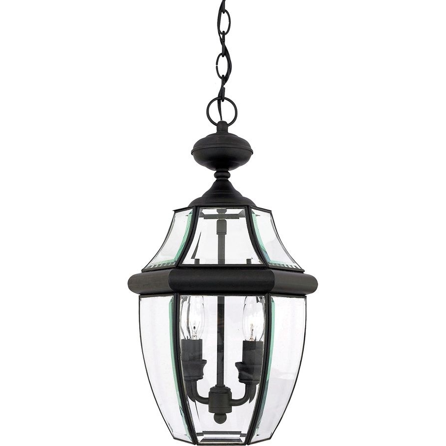 Current Shop Portfolio Brayden 18.5 In Mystic Black Outdoor Pendant Light At Within Outdoor Hanging Lights At Lowes (Gallery 6 of 20)