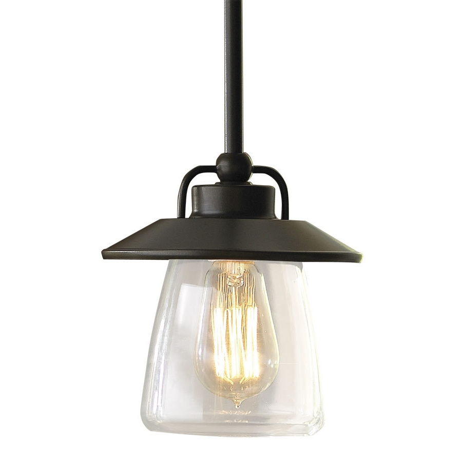 Current Small Outdoor Ceiling Lights Intended For Shop Allen + Roth Bristow (View 2 of 20)