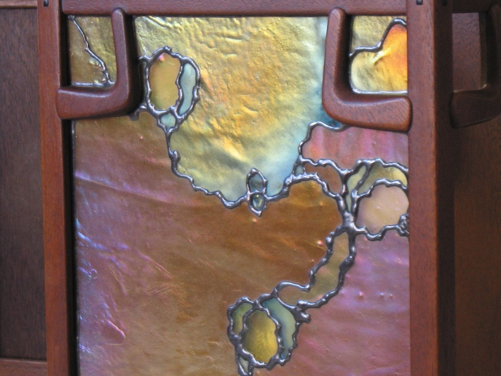 Current Stained Glass Outdoor Wall Lights Throughout Custom Stained Glass Greene & Greene Wall Sconcehamm Glass (View 3 of 20)