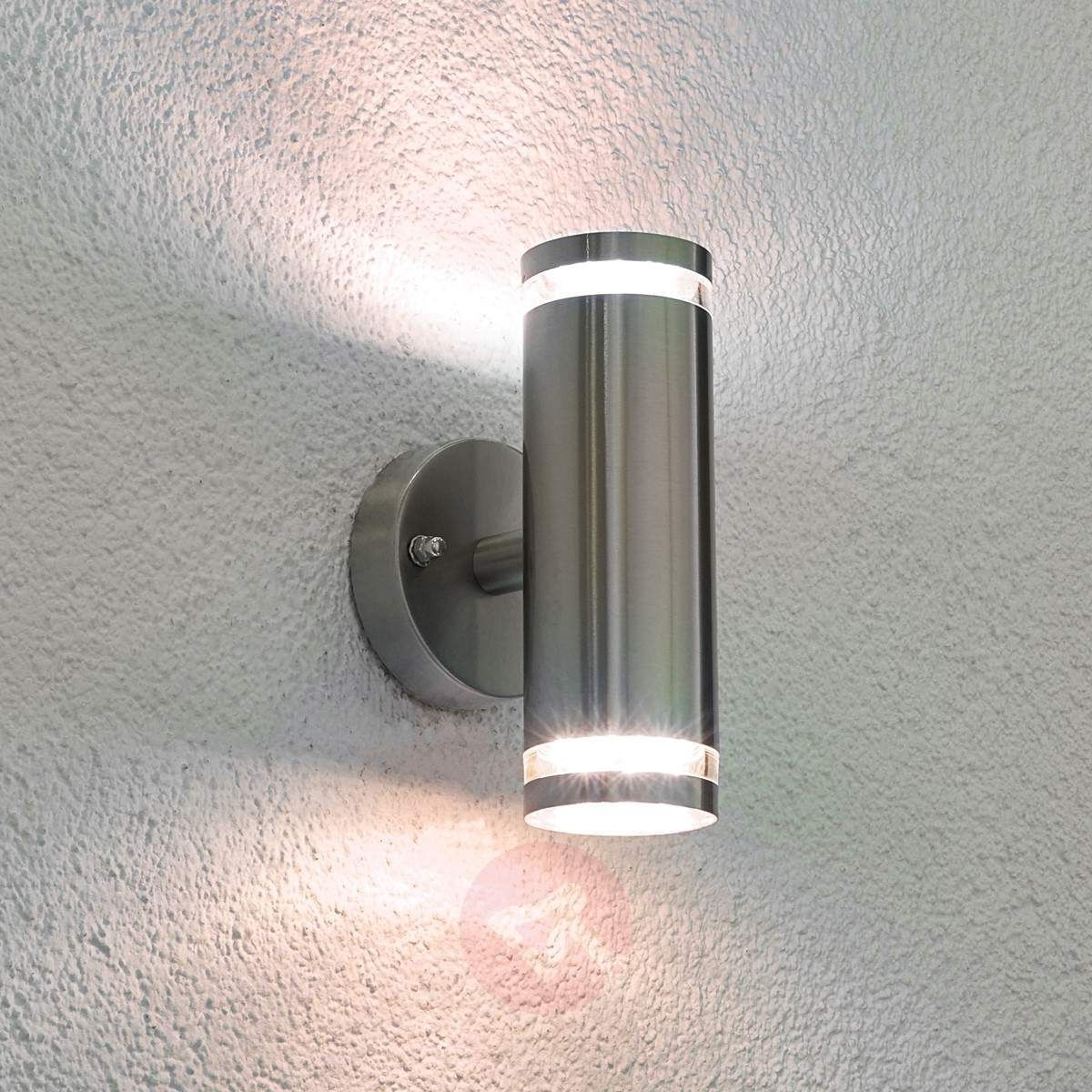 Current Tiberus Stainless Steel Led Outdoor Wall Light Outdoor Wall Lights Within Outdoor Wall Ceiling Lighting (View 3 of 20)