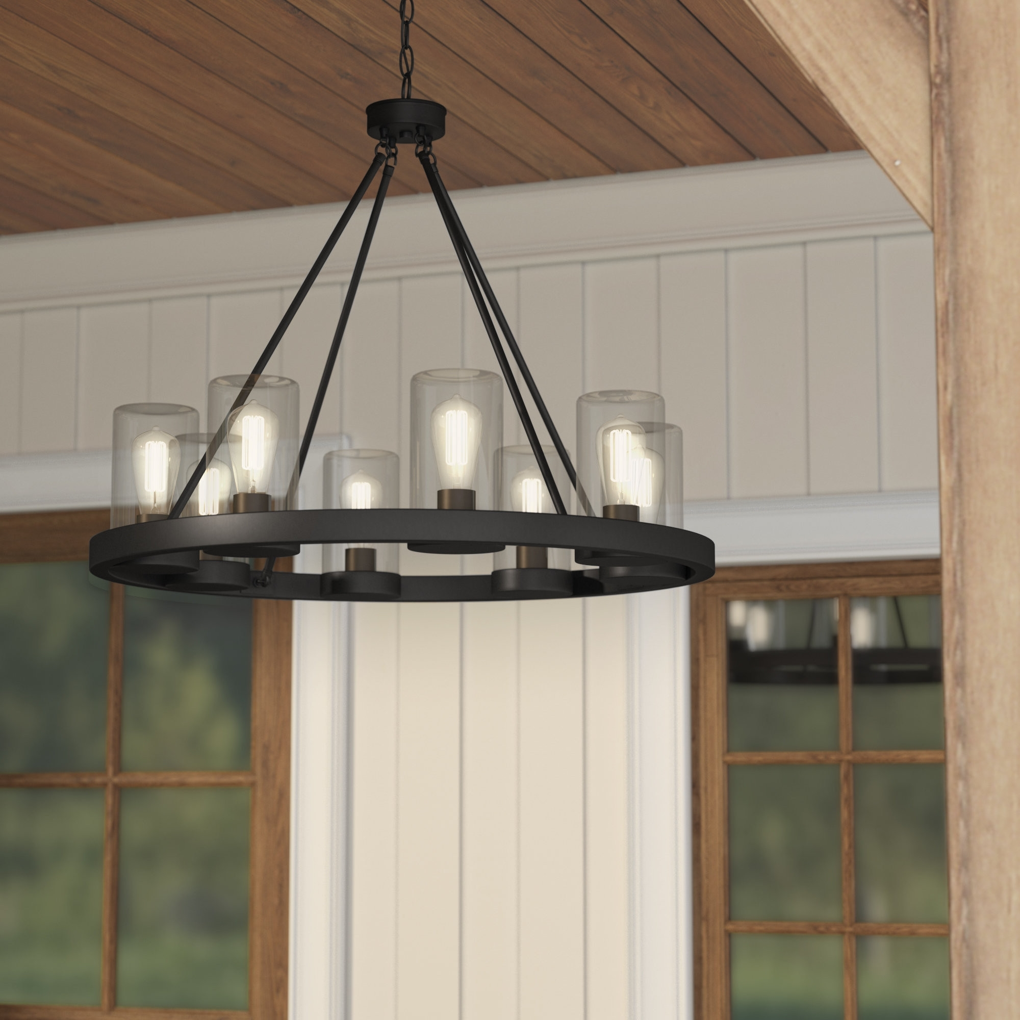 Current Wayfair Outdoor Hanging Lights Pertaining To Outdoor Chandelier Lighting New Outdoor Hanging Lights You Ll Love (View 17 of 20)