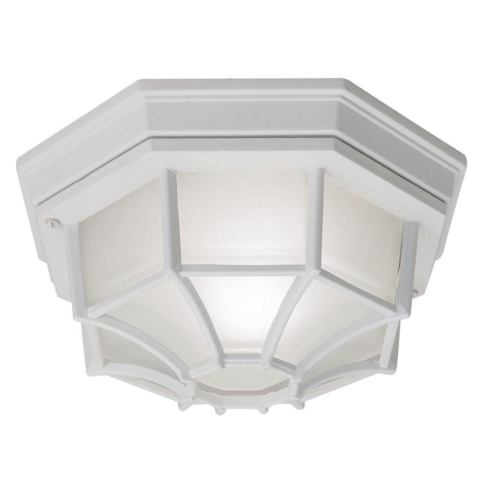 Current White Outdoor Ceiling Lights Regarding Outdoor Ceiling Lighting – Outdoor Lighting – The Home Depot (Gallery 4 of 20)