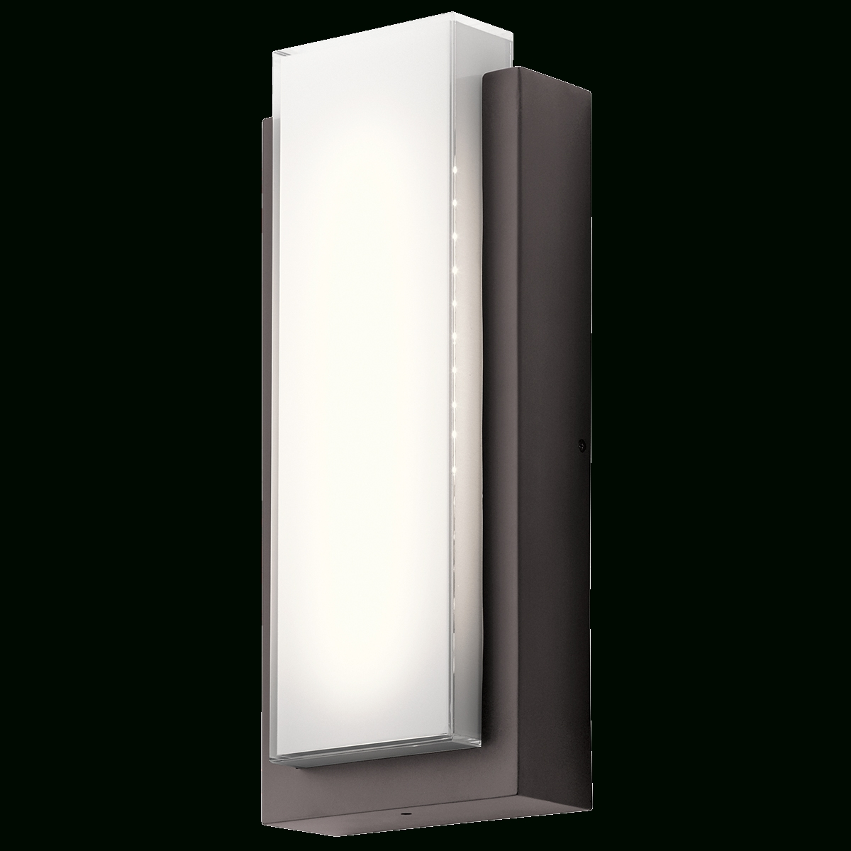 Dahlia 1 Light Led Outdoor Wall Light In Architectural Bronze (Az Intended For Well Liked Black Contemporary Outdoor Wall Lighting (View 7 of 20)