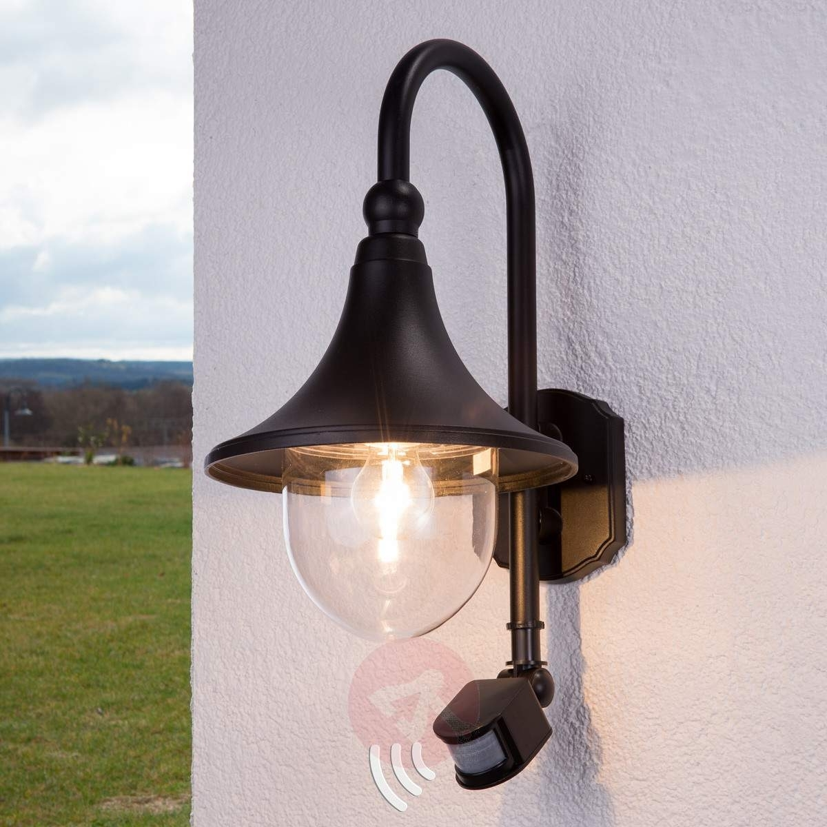 Daphne Outdoor Wall Light With Sensor (View 4 of 20)