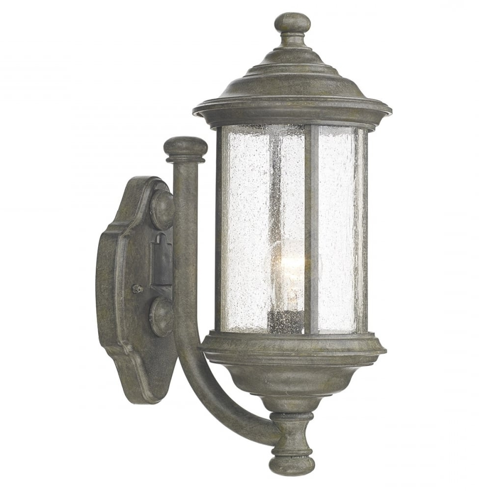 Dar Dar Bro1661 Brompton 1 Light Outdoor Wall Light Ip43 Old Iron Within Well Liked Traditional Outdoor Wall Lighting (View 10 of 20)