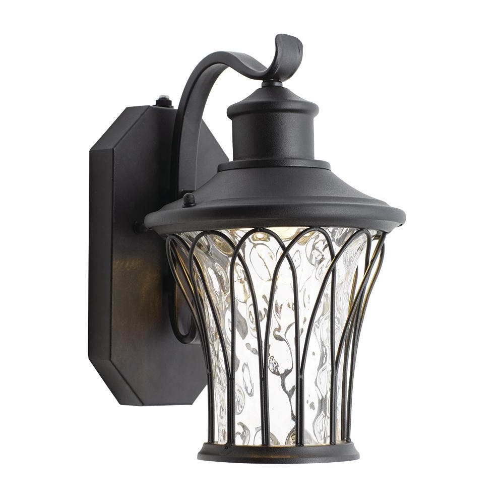 Dawn Dusk Outdoor Wall Lighting Intended For Best And Newest Home Decorators Collection Black Outdoor Led Dusk To Dawn Wall (View 4 of 20)