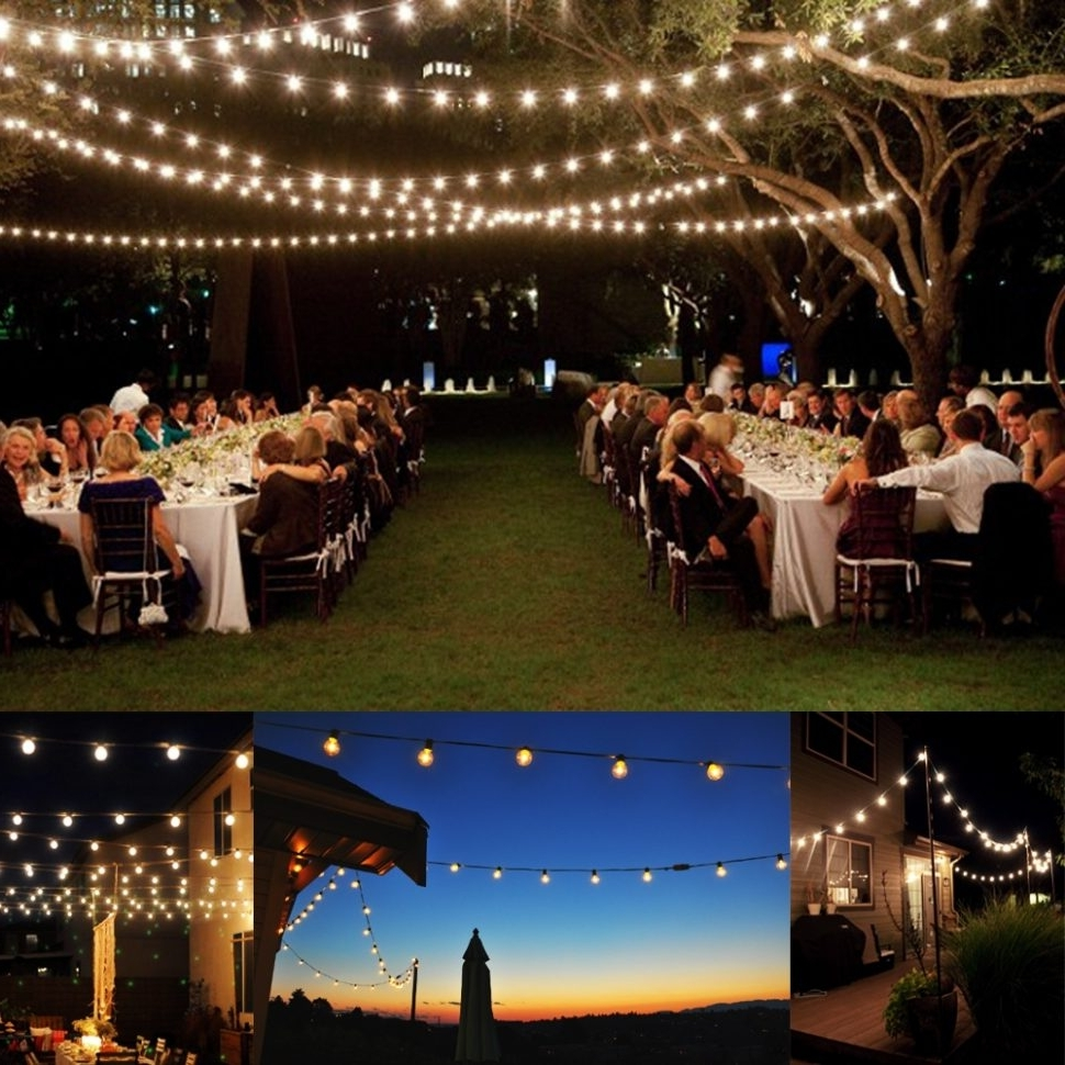 Decoration : Stringing Outdoor Lights Led Garden String Lights Inside Current Hanging Outdoor Lights For A Party (Gallery 13 of 20)