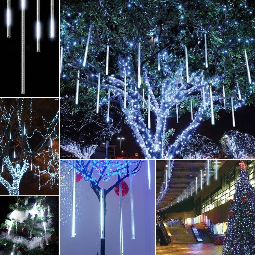 Decorations : Outdoor Christmas Lighting Tree Hanging Lantern Stick With Regard To Current Outdoor Hanging Icicle Lights (View 6 of 20)