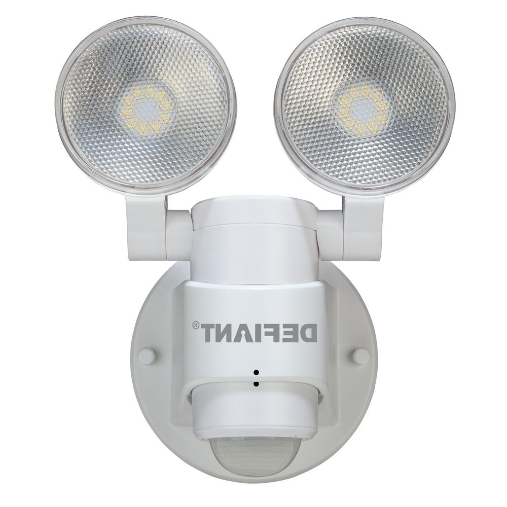 Defiant 180 Degree 2 Head White Outdoor Flood Light Dfi 5936 Wh With Regard To Well Known Outdoor Ceiling Mounted Security Lights (View 3 of 20)