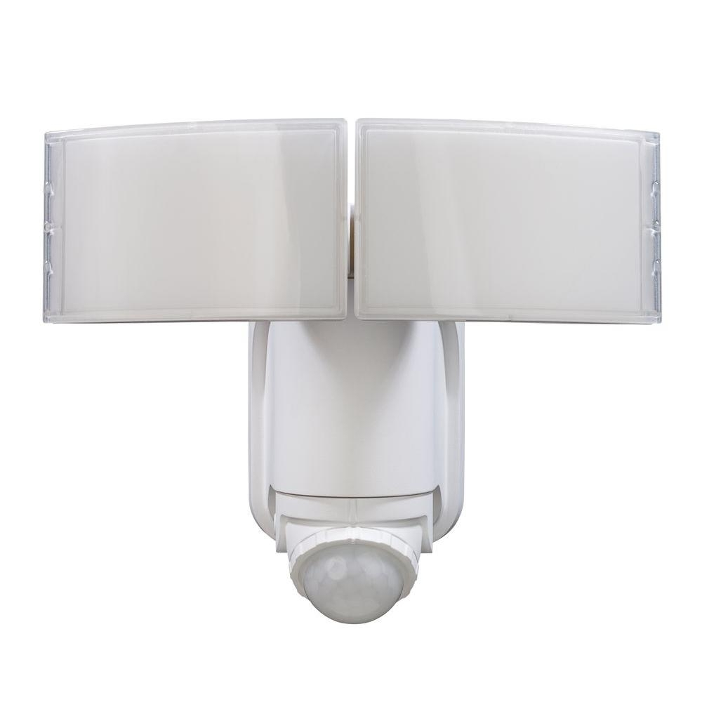 Defiant 180° White Solar Powered Motion Led Security Light With Intended For Latest Battery Operated Outdoor Lights At Home Depot (View 2 of 20)